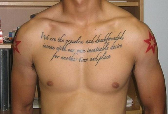 Chest Tattoo Quote