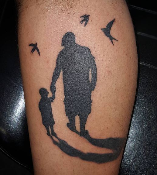 Father Son Tattoos On Calf