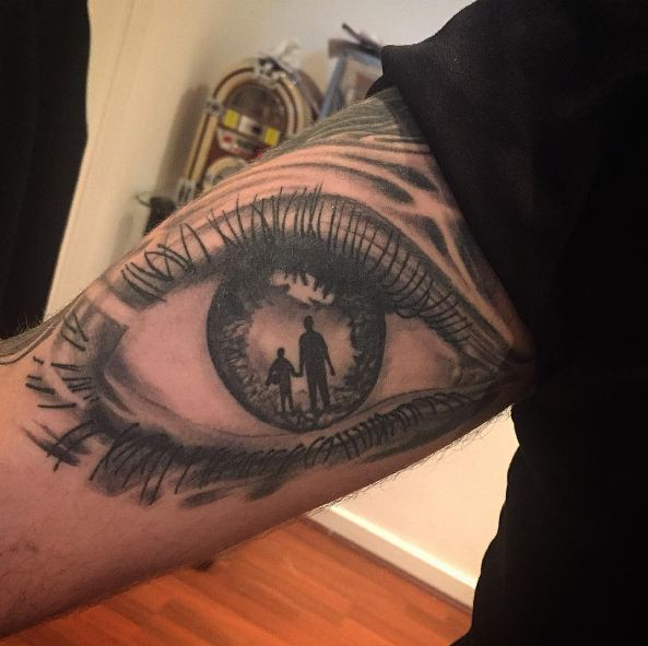 Eye With Father Son Tattoos