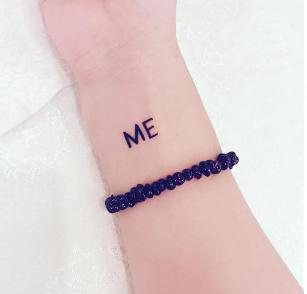 ME One Word Tattoos Design And Ideas For Girls