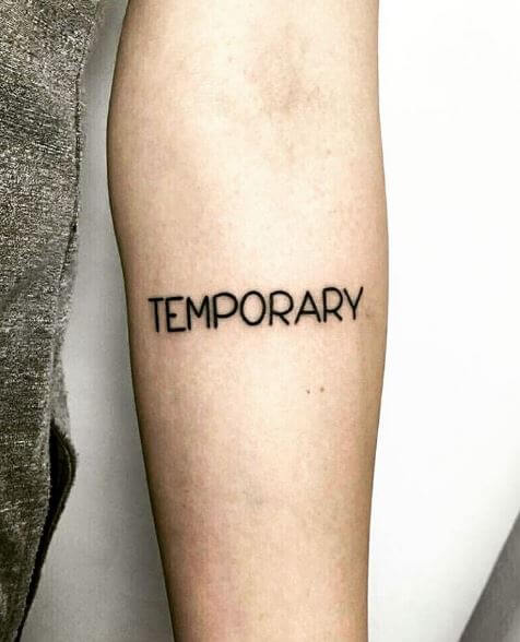 Temporary One Word Tattoos Design And Ideas