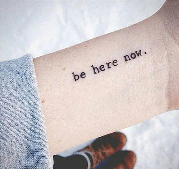 One Word Quotes Tattoos