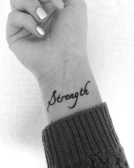 Inspirational One Word Tattoos
