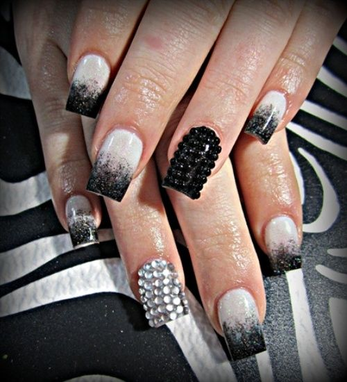 jeweled nails
