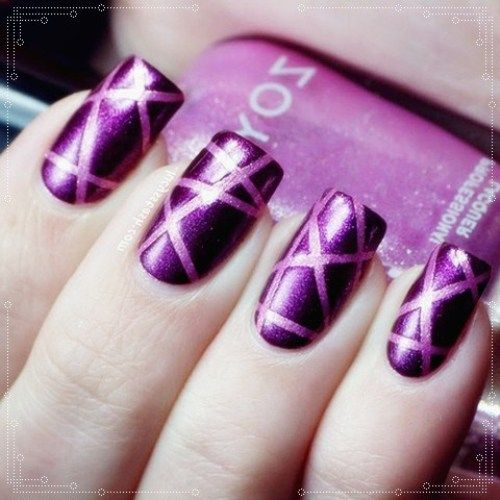 segmented nail art design