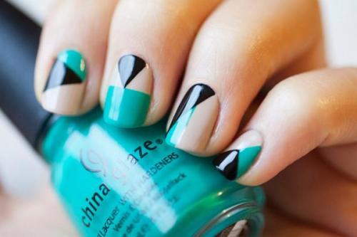 segmented nail art