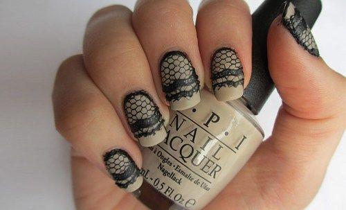 Lacy nail art
