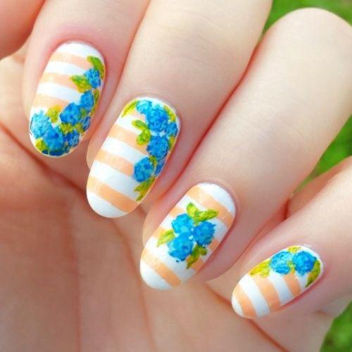 painterly prints nail art