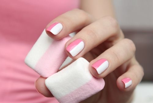 half and half manicure