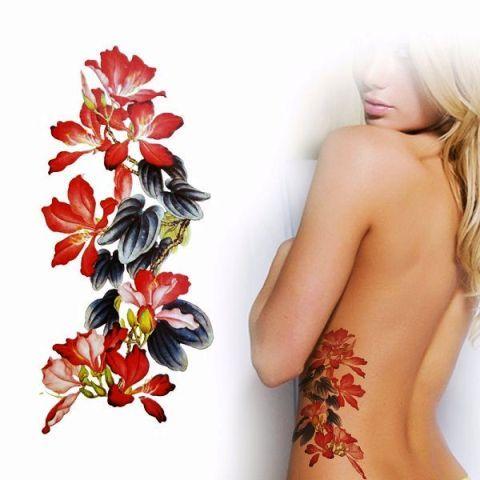 Chinese Flower Tattoo