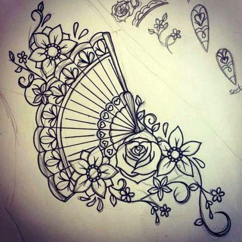 Chinese Fan Tattoo