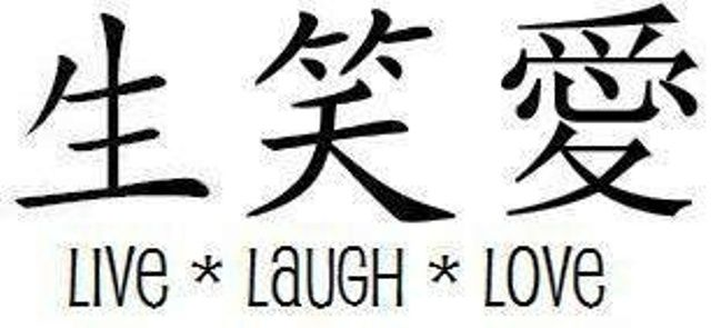 Live, Laugh and Love Tattoo