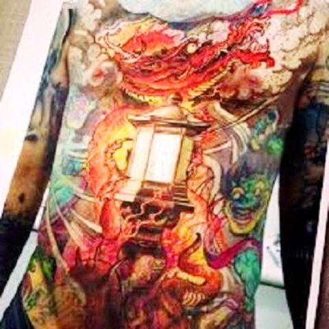 Chinese Lantern Tattoo