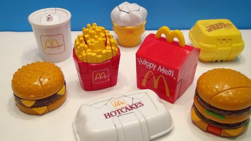 The most expensive Happy Meal toys - Transforming Food (1987 and 1989)