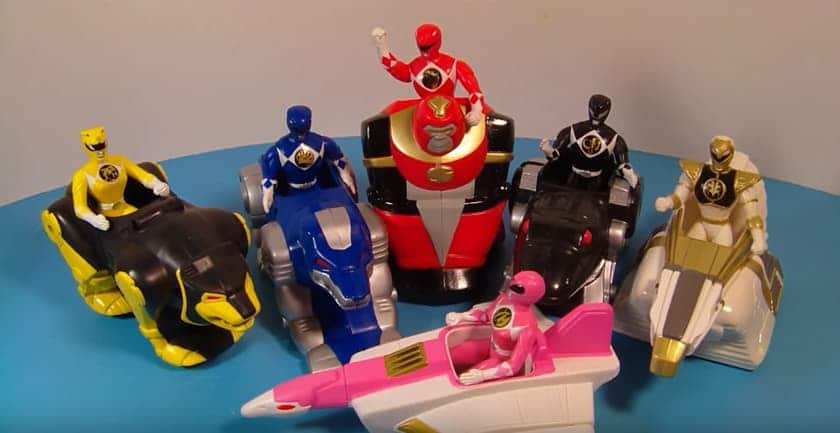The most expensive Happy Meal toys - Power Rangers (1994)
