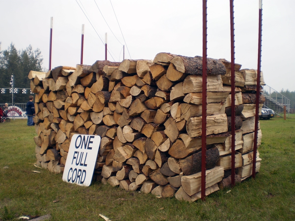 firewood cord size