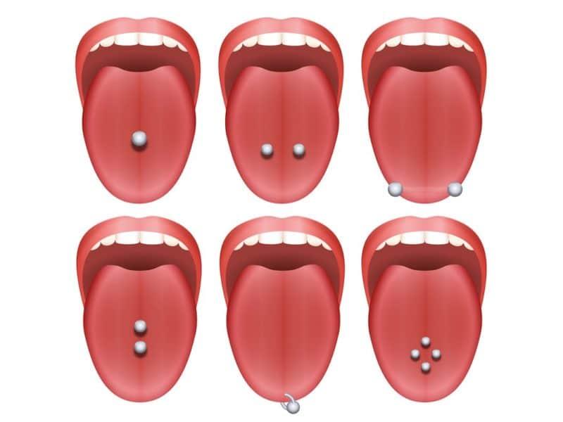 Snake Eyes Tongue Piercing