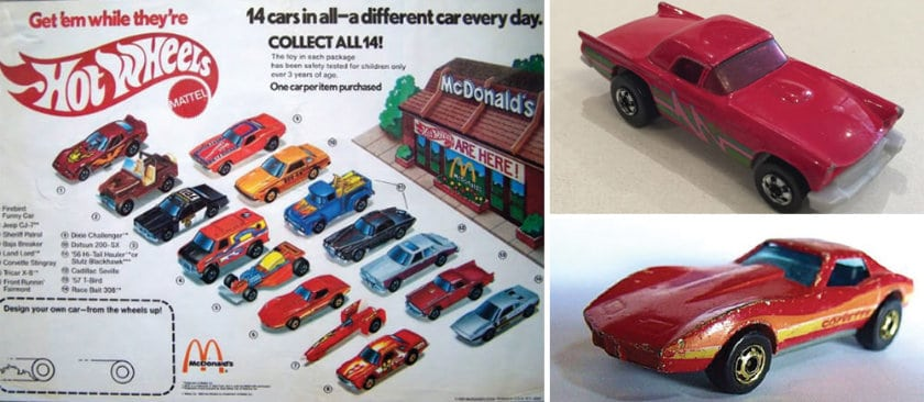 The most expensive Happy Meal toys - Hotwheels