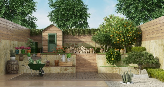 How to Make Your Wooden Garden Shed Blend in to the Landscape