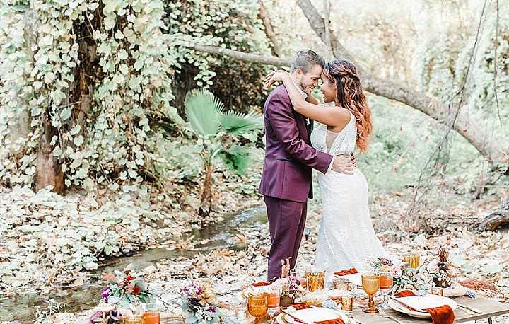 'California Forest Wedding' Simple and Organic Bohemian Wedding Inspiration of 1970