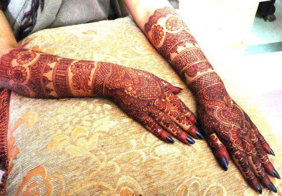 full arm mehendi design