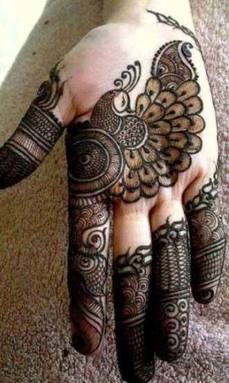 Peacock-Mehandi-Designs