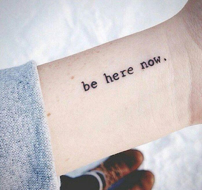 Small quotes tattoos for men