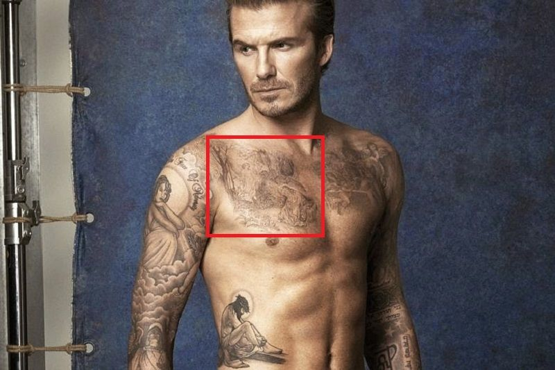 David Beckham-Lady in a Forest Tattoo