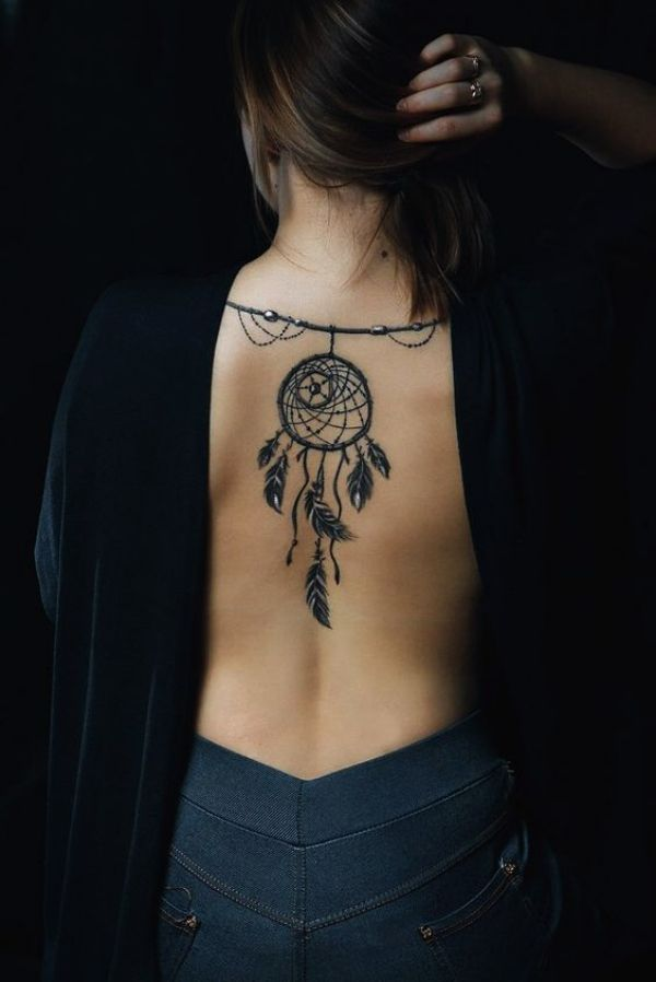 Dreamcatcher With Peacock Feathers Tattoo (6)