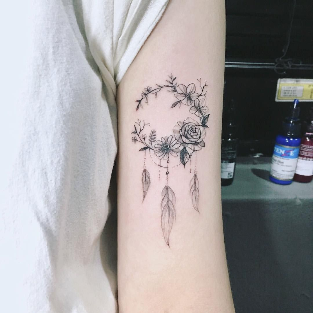 What Does A Dreamcatcher Tattoo Symbolize (4)