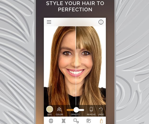 Change Hair Color: Modiface Hair Color App