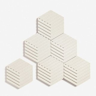 AREAWARE Table Tiles concrete and cork coasters set of six