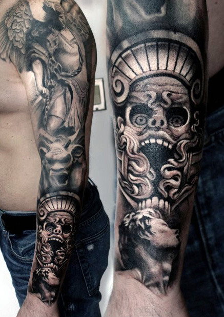 Black Ink Tattoo Sleeves For Men