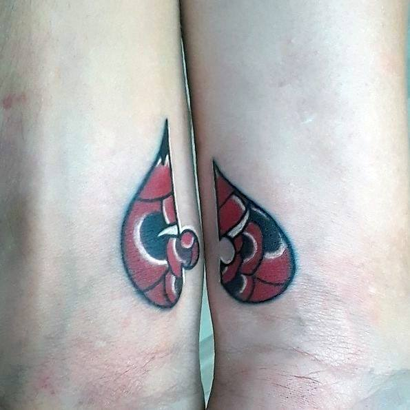 Couple Tattoo Ideas Puzzle Piece Rose Flower Traditional Design