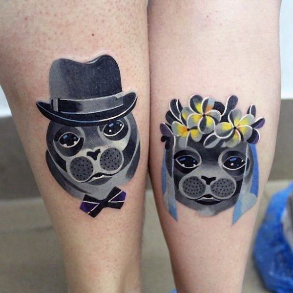 Modern Small Married Couples Tattoo Ideas