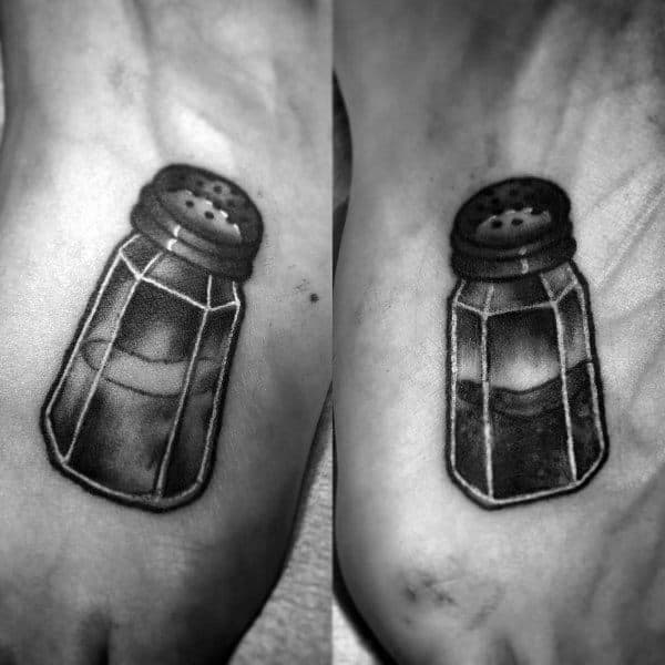 Salt And Pepper Shakers Couple Tattoos Unique