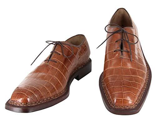 New Sutor Mantellassi Caramel Brown Shoes 9.5/42.5