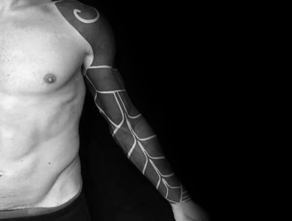 Blackwork Blackout Mens Tattoo Styles