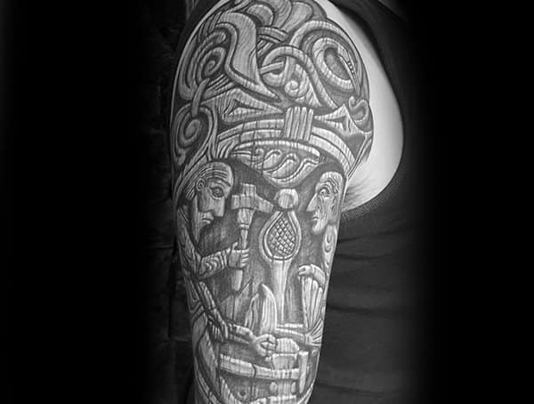 Wood Carving Tattoo Styles And Designs