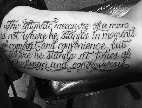 Quote Word Tattoo Styles