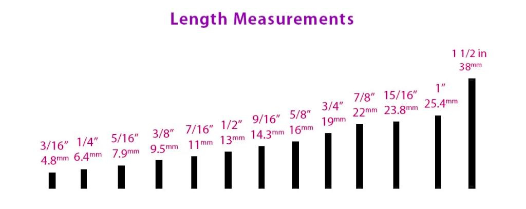Body jewelry length