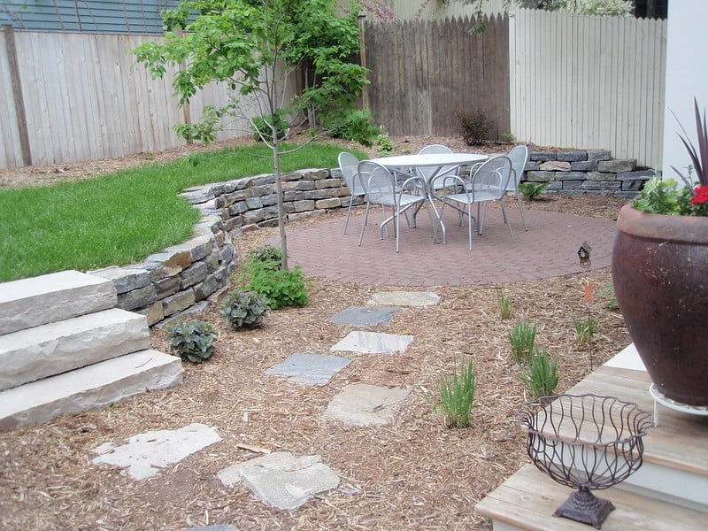 3. Newly renovated yard shows how to do conversion to xeriscape