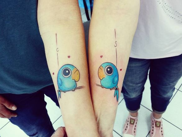 Simple Best Friend Tattoos