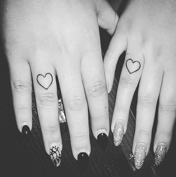 Best Friend Finger Tattoos