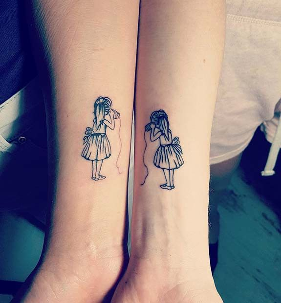 Girl Best Friend Matching Tattoos (4)