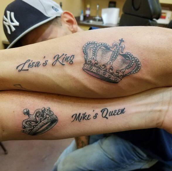 Couple Tattoo Ideas King And Queen