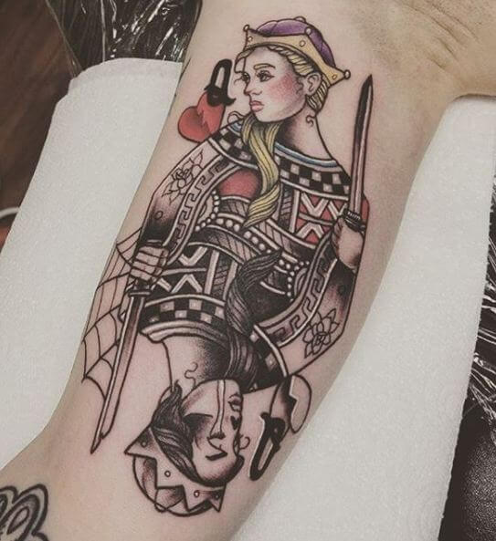 Tattoo Of Queen And King