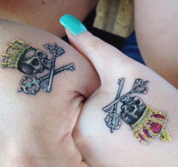 King And Queen Tattoos On Hand