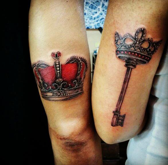 King And Queen Crowns Tattoo