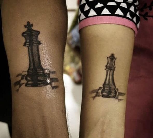 King And Queen Chess Tattoos
